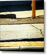 Sidewalk Abstract Metal Print