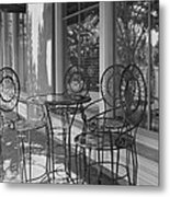 Sidewalk Cafe - Afternoon Shadows Metal Print by Suzanne Gaff