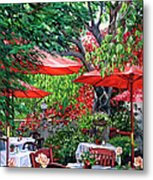 Sidewalk Cafe Metal Print