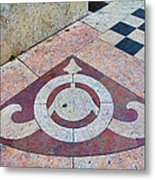 Sidewalk Detail  Lisbon Portugal Metal Print
