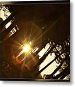 Sideways Sunset Metal Print