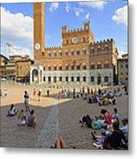 Siena Italy - Piazza Del Campo Metal Print