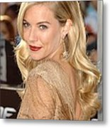 Sienna Miller At Arrivals For Screening Metal Print by Everett