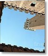 Sienna Tower Metal Print by Elizabeth Fontaine-Barr