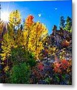 Sierra Nevada Fall Colors Lassen County California Metal Print by Scott McGuire