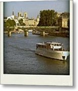Sightseeings On The River Seine In Paris Metal Print