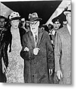 Sigmund Freud 1856-1939, With Marie Metal Print