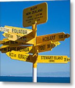 Sign Post In Sterling Point Bluff Metal Print