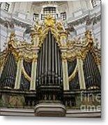 Silbermann Organ Metal Print