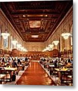 Silence In The Library II Metal Print