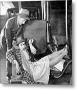 Silent Film Still: Accidents Metal Print