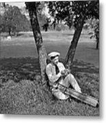 Silent Film Still: Golf Metal Print