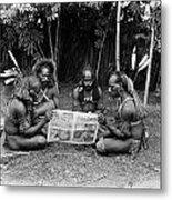 Silent Film Still: Natives Metal Print