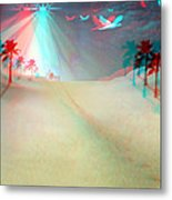 Silent Night - Red And Cyan 3d Glasses Required Metal Print