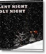 Silent Night Card Metal Print