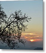 Silhouette At Sunset Metal Print