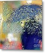 Silhouette In The Rain Metal Print