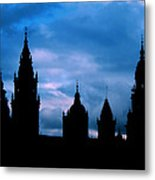 Silhouette Of Spanish Church Metal Print