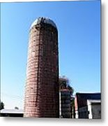 Silo In Red Metal Print