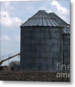 Silos And Augers Metal Print