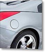 Silver 350z Nissan Metal Print