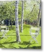 Silver Birches Metal Print by Lucy Willis
