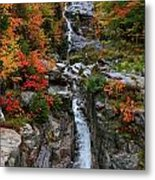 Silver Cascades Surrounded By Colors Metal Print