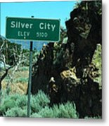 Silver City Nevada Metal Print