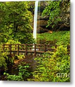 Silver Falls Bridge Metal Print