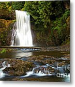 Silver Falls Waterfall Metal Print