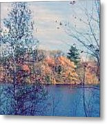 Silver Lake In Fall Metal Print