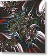 Silver Seedpods Metal Print
