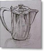 Silver Teapot Metal Print