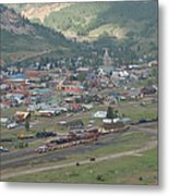 Silverton Colorado Painterly Metal Print