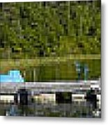 Simple Waterslide On Portage Lake Metal Print