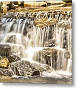Simple Yet Powerful Waterfall Metal Print by Daphne Sampson