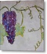 Simply Grape Metal Print