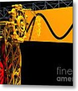 Sine Wave Machine Landscape 2 Metal Print
