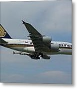 Singapore Airlines Airbus A380 Metal Print