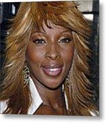 Singer Mary J. Blige Metal Print