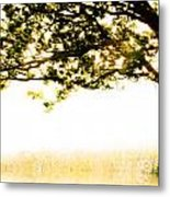 Single Tree In Motion Metal Print