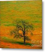 Single Tree Metal Print