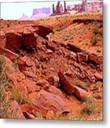 Sinkhole In Monument Valley Metal Print