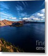 Sinott Crater Lake View Metal Print