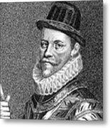 Sir John Hawkins (1532-1595) Metal Print