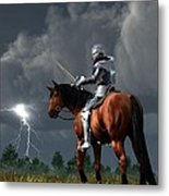 Sir Lightning Rod Metal Print
