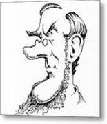 Sir William Hooker, Caricature Metal Print by Gary Brown