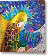 Sirin The Bird Metal Print