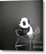 Sitting Meditation. Floyd From Travelling Pandas Series. Metal Print