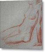 Sitting Woman Metal Print